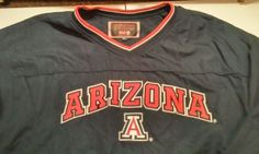 Arizona-Wildcats-Colosseum-Athletics-Lined-V-Neck-Pullover-Jacket-Navy