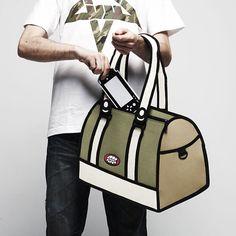 Jump From Paper: 2D Cartoon-like Handbags | DeMilked
