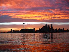 August 2011 Toronto Sunset from Island