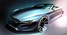 audi concept car design illustration created by digital artist tony chen