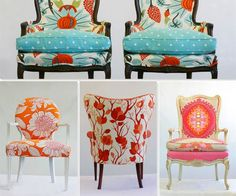 Andrea Mihalik's colorful Wild Chairy chairs. #chairs #color #hgtv