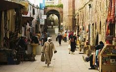 Moroco - A street scene in Essaouira - The stage where everyone is a star