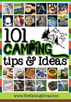 101 Camping Tips and Ideas from TheDatingDivas.com #camping #tips  http://www.thedatingdivas.com/food/101-camping-tips-ideas/  https://www.facebook.com/PreppingMeansPrepared/ #campingfoods