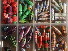 handmade paper beads aug 2013