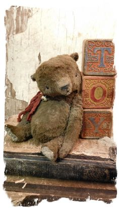 "★ 5"" EXTREME AGeD & WoRN OLD BEAR vintage TEDDY ★ by Whendi Bears …"