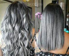 50 Gray Silver Hair Color Ideas in Silver hair trend hair color as well as attitude and these days not only for Gümüş seniors Gümüş. Silver trendy sexy nervous and super trend., Street Style - Best Hair Styles EVER Wash Out Hair Color, Cool Hair Color, Hair Colour, Looks Chic, Looks Style, Hair Color Balayage, Hair Highlights, Natural Hair Styles, Short Hair Styles