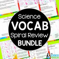 Science Vocabulary Review GROWING Bundle from The Science Penguin - Vocabulary is fundamental to learning and being able to demonstrate comprehension of science.