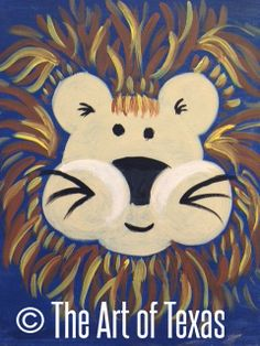 Leo the Lion painting | The Art of Texas Kids | Midland, Texas