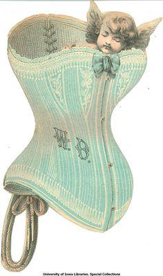 angel corset Vintage Pictures, Vintage Images, Vintage Corset, Vintage Clip, Bustiers, Cut Outs, Vintage Advertisements, Junk Journal, Ephemera