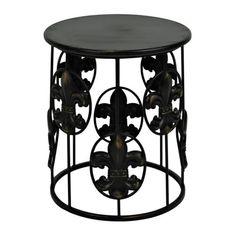 Black Fleur-de-lis Side Table | Kirklands