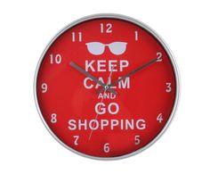 Часы настенные - пластик - красный, 30 х 30 х 4 см | Westwing Интерьер & Дизайн