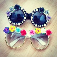 Check out super awesome products at Shire Fire! :-) OFF or more Sunglasses SALE! Diy And Crafts Sewing, Crafts To Sell, Diy Crafts Videos, Craft Tutorials, Festival Sunglasses, Diy Glasses, Diy Sac, Estilo Retro, Craft Wedding