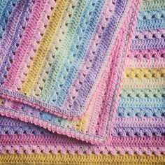 Crochet Afghans Patterns Ravelry: Project Gallery for Cosy Stripe Blanket pattern by Lucy of - Crochet Baby Blanket Free Pattern, Crochet For Beginners Blanket, Baby Afghan Crochet, Afghan Crochet Patterns, Free Crochet, Knitting Patterns, Knit Crochet, Double Crochet, Baby Afghans