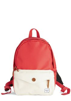 Anywhere Under the Sun Backpack. Roam in bold style while toting this coral  backpack from 8ee9df9547