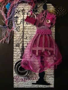 My Paper Stash: Dress Form Swap using Lindy's and Tim Holtz