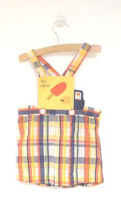 56f222ba5 1970's Yellow Blue and Red Plaid Seersucker Ice by BabyTweeds Vintage Baby  Boys, Vintage Baby