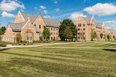 Flaherty Hall, a new women's residence hall, sits south of Dunne Hall on East Quad