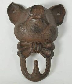 New Cast Iron Pig Kitchen Home Wall Decor Hook | EBay