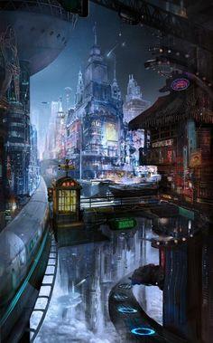 Science fiction architecture cyberpunk city New Ideas Cyberpunk Aesthetic, Cyberpunk City, Arte Cyberpunk, Futuristic City, Futuristic Architecture, Cyberpunk 2077, Architecture Panel, Drawing Architecture, Architecture Portfolio