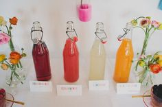 DIY mimosa bar. Love a presentation like this for the juice. These are from World Market.