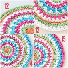 {Crochet} Mandy's Mega Mandala Cushion Pattern Crochet Mandala Pattern, Crochet Circles, Crochet Squares, Crochet Doilies, Crochet Flowers, Crochet Patterns, Pdf Patterns, Crochet Home, Crochet Crafts