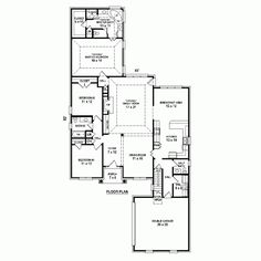 First Floor Plan of Traditional   House Plan 48722