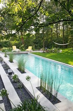Swimming can be great exercise and a lot of fun! But the chlorine used in most pools can have some negative side effects, not the least of which is relianc  #ModernLandscaping