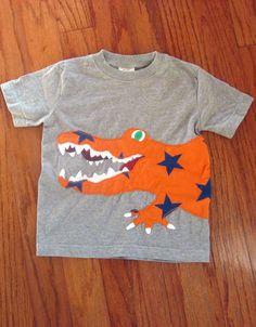 Mini Boden Boy Size 4 4T 5 5T Alligator Applique Star T Shirt A Favorite WOW | eBay