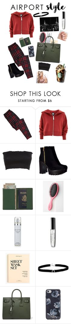 """""""Untitled #165"""" by evie-marshall ❤ liked on Polyvore featuring Topshop, Royce Leather, Anthropologie, Kenneth Cole, J.Crew, BillyTheTree, Yves Saint Laurent, Kate Spade and airportstyle"""