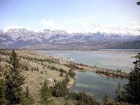 Celestine Lake Road in Jasper National park