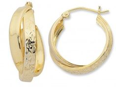 9ct Yellow Gold Silver Filled Hoop Earrings [FI903243]