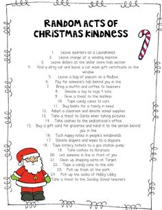 •❈• random acts of kindness printables | DIY Random Acts of Christmas Kindness Advent ... | Favorite Recipes