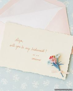 simple thoughtful way to ask bridemaids