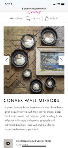 Round Mirrors, Antique Gold, Cottage, Shapes, Antiques, Frame, Inspiration, Antiquities, Picture Frame