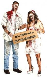 Zombie Theme Save the Date Engagement Photos cool idea