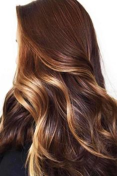 24 Seductive Chestnut Hair Color Ideas To Try Today Golden Blonde Highlights For Chestnut Brown Dark Ombre Hair, Brown Hair Balayage, Ombre Hair Color, Hair Color Balayage, Brown Hair Colors, Light Ombre, Honey Balayage, Balayage Brunette, Hair Colour