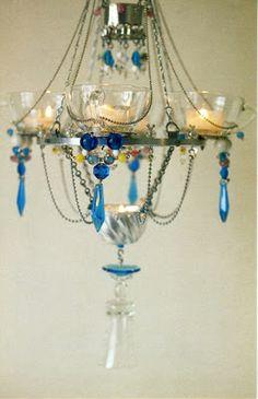 MadameMademoiselle: DIY lámpara de araña