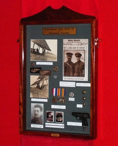Sheehan O'Connor family WWI Collection | A museum display case showing a collection of memorabilia, photographs and artefacts, relating to the seven Sheehan O'Connor family members who served in the Great War on the Western Front, followed by 24 photographs with details of their individual stories