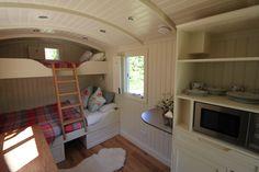 Take a photographic tour of our beautiful bespoke Shepherd's Huts.