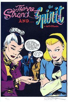 Will Eisner Lithograph: Thorne Strand & The Spirit - Comic Art Sales from Denis Kitchen Art Agency