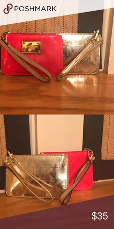 Michael Kors wristlets MK wristlets practically new. A wonderful way to add a splash of color to any outfit. Sassy & Fun! Bags Clutches & Wristlets