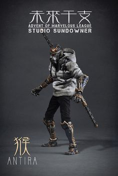 Into th SCALE COLLECTIBLE FIGUREs and love of NEO Folklore, look no further as Studio Sundowner is now offering you the chance to own their insane looking Advent of Marvelous League-Antira figure! No bullshit, many of you missed out on Antira so Arte Ninja, Arte Robot, Cyberpunk Character, Cyberpunk Art, Character Concept, Character Art, Concept Art, Vinyl Toys, Vinyl Art