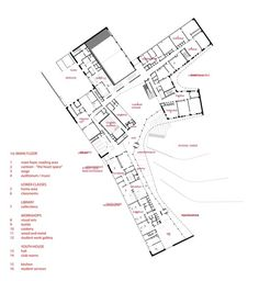Saunalahti School / VERSTAS Architects First Floor Plan
