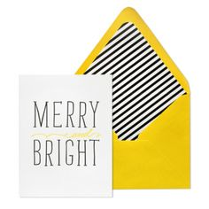 holiday card. yellow. stripe. type