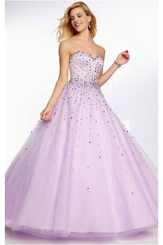 Simply Floor-length Tulle Sweetheart Sleeveless Quinceanera Dresses