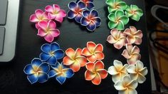 """'Polymer Clay Flowers 1""""  tiered auction' is going up for auction at  7pm Fri, Jul 20 with a starting bid of $5."""