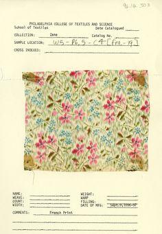Floral print. France. September 9, 1896-1897.
