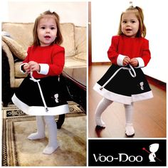 Stylish dress for your little girl! #fashion #style #trending #new #look #brand #cute #red #black #clothing #kids