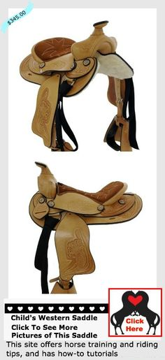 Affordable #childswesternsaddle that will keep your kids safe and comfortable in the arena and down the trail.