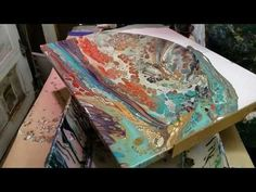 Fluid Painting with Inspiration Colors in a Flip Cup & String Drag - YouTube